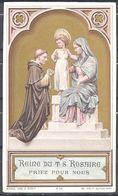 Image Pieuse Reine Du Très Saint Rosaire Bouasse Lebel & Massin M 52 - Images Religieuses