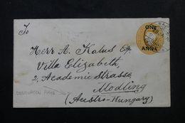 INDE - Entier Postal Type Victoria Pour L 'Autriche - Hongrie En 1908, Compléments Au Verso Disparus  - L 62962 - India (...-1947)