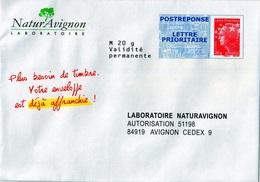 FRANCE PRETS A POSTER, POSTREPONSE LABORATOIRE NATURAVIGNON 12P067 - Postal Stamped Stationery