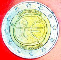 SLOVACCHIA - 2009 - Moneta - 10° Anniversario Dell'Unione Economica E Monetaria - Euro - 2.00 - Slovaquie