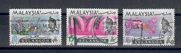MALESIA SELANGOR 1961  - FLORA 3 VALORI USATI - Selangor