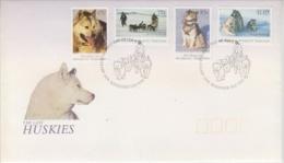 AAT 1994 Huskies 4v   FDC Ca Kingston Tas (48047) - FDC