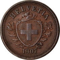 Monnaie, Suisse, Rappen, 1907, Bern, TTB+, Bronze, KM:3.2 - Suisse