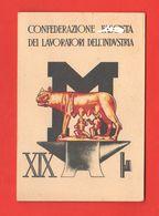 Padova Tessera Confederazione Fascista Lavoratori Industria 1941 XIX° E. F. Lupa Con Romolo E Remo - Historische Dokumente