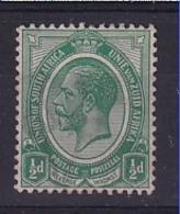 South Africa: 1913/24   KGV    SG3b    ½d   Blue-green  MH - Neufs