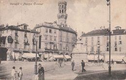 Cartolina  - Postcard /  Viaggiata   - Sent /  Vercelli, Piazza Cavour. - Vercelli