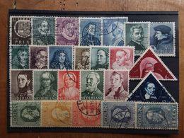 OLANDA 1913/41 - Personaggi Celebri - 25 Valori Differenti Timbrati + Spese Postali - Usati