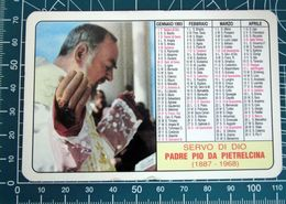 PADRE PIO CALENDARIO PLASTIFICATO 1993 - Calendriers