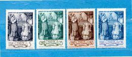Vaticano **- 1943 - Episcopato Di PIO XII. Unif. 80/83.  MMH. - Neufs