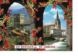 09 SAINT GIRONS Cpm Un Bonjour De Saint Girons - Saint Girons