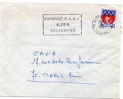 YVELINES - Dépt N° 78 = VERSAILLES RP 1967 =  FLAMME Codée = SECAP 'EMPRUNT SNCF / 6.25% / SOUSCRIVEZ ' - Marcophilie (Lettres)