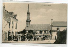29 GUILERS Carte Rare  Villageois Place Eglise Commerces Coll E Le Bihan  1910    D14 2020 - Francia