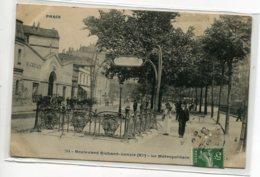75 PARIS XI Carte RARE  Le Métropolitain Sortie Boulevard Richard Lenoir Art Nouveau Guimar Fer Forgé 1908   D14 2020 - Métro Parisien, Gares