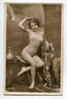 NU French Charm 074 Jean  AGELOU JA Série 39 Modèle FERNANDE  Nue  Bras Levé   Bijoux Tapis Orientalisme ,EROTISME - Nus Adultes (< 1960)