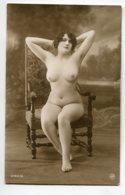 NU French Charm 079 Jean  AGELOU JA Série 91 Jeune Femme  Fauteuil Bras Relevés Tete Poitrine Montrée   - EROTISME - Fine Nudes (adults < 1960)