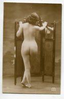 NU French Charm 090 Edit RR Série 2 Jeune Femme Nue Au Paravent Etude Dos Fesse Cambruere Reins  EROTISME - Fine Nudes (adults < 1960)