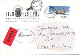 Spain Express Cover With ATM Label Sent To Germany 16-11-1998 - 1991-00 Brieven