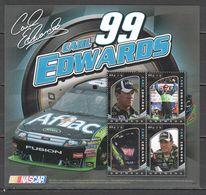 B0057 2010 GRENADA TRANSPORT CARS SPORTS RACING NASCAR CARL EDWARDS 1KB MNH - Coches