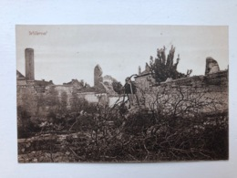 Ak Cp Willerval Ruines - War 1914-18