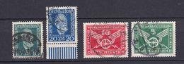 Deutsches Reich - 1924/25 - Michel Nr. 368/369 + 370/371 - Gestempelt - 29 Euro - Oblitérés