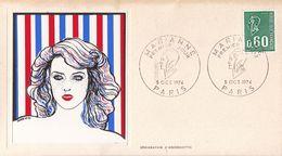 FRANCE PREMIER JOUR / FDC / MARIANNE / PARIS / 5 OCT 1974 / Y.T N° 1815 - 1970-1979
