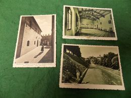 VINTAGE ITALY: MONTECASSIANO X3 Sepia & Green Tint Stracci - Other Cities