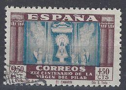 España U 0900 (o) Virgen Del Pilar. 1940 - 1931-50 Usati