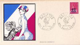 FRANCE PREMIER JOUR / FDC / MARIANNE / LA REUNION 974 SAINT DENIS / 19 OCT 1974 / Y.T N° 1816 - 1970-1979