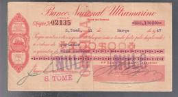 SAINT THOMAS AND PRINCE  CHEQUE 100 ESCUDOS  31 031947 VF+ PICK 35A Lotto.2836 - São Tomé U. Príncipe
