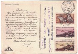 CARTE PUBLICITAIRE NOUVELLE CALÉDONIE LABORATOIRE PHARMACEUTIQUE IONYL CACHET NOUMÉA AFFRANCHISSEMENT À VOIR 1949 - Lettres & Documents