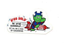 Autocollant St Go Sold Le Vrai Soldeur St Gaudens - Format: 12.5x7cm - Adesivi