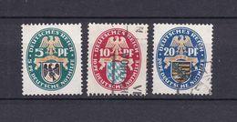 Deutsches Reich - 1925 - Michel Nr. 375/377 - Gestempelt/Ungebr. M. Falz - 20 Euro - Oblitérés