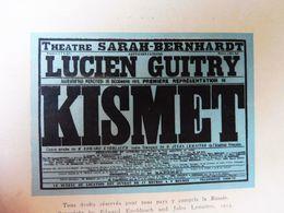 éd. Origine 1913 Conte Arabe D'Edward Knoblauch  KISMET ;Pub MICHELIN :Le Théâtre Illustré Du Pneu L'HOMME QUI ASSASSINA - Theatre