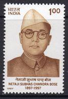 India 1997 Birth Centenary Of Subhas Chandra Bose, MNH, SG 1698 (D) - Neufs