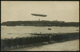 HELGOLAND Um 1908, FOTO-PK, BROMSILBER, ABB. ZEPPELIN ÜBER HELGOLAND SEHR SELTEN - Helgoland