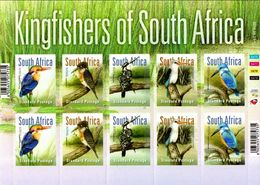 South Africa 2016. Fauna. Birds. Kingfishers. Sheet  MNH - Unused Stamps