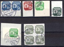 Slovensko / Slowakei   Michel #  54 : 66  Spezialitäte - Used Stamps