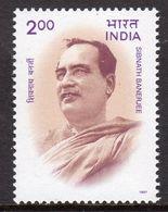 India 1997 Birth Centenary Of Sibnath Banerjee, MNH, SG 1719 (D) - Neufs