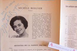 Michele BOEGNER Pianiste Dédicace Signature Autographe 1964 Piano - Née à Lyon - Pianist - Autographes
