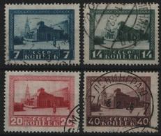 Russia / Sowjetunion 1925 - Mi-Nr. 292-295 A Gest / Used - Lenin-Mausoleum - Neufs