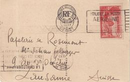 FRANCE : N° 355 . SAMOTHRACE .POUR LA SUISSE . CP . 1937 . - 1921-1960: Période Moderne