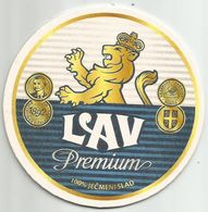 LAV PREMIUM Beer Coaster From Carlsberg Serbia Brewery - Sous-bocks