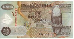ZAMBIA   500 KWACHA    P43f    2008 - Zambie