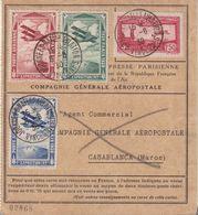 """FRANCE : PA . CGA . FRANCE MAROC . DE """" VINCENNES """" . N° 5 . ET 3 VIGNETTES DE L'EXPO INT DE PARIS . 1930 . - 1921-1960: Période Moderne"""