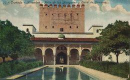 GRANADA. ALHAMBRA. PATIO DE ARRAYANES Y TORRE DE LOS GOMAREZ - Granada