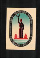 Germany / Deutschland  1934 Magdeburg European Swimming Championship Postal Stationery Postcard - Natation