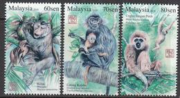 2016 Malaysia Monkeys Complete Set Of 3 MNH - Maleisië (1964-...)