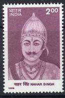 India 1998 140th Death Anniversary Of Nahar Singh, MNH, SG 1768 (D) - Neufs