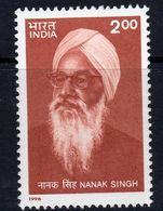India 1998 Birth Centenary Of Nanak Singh, MNH, SG 1769 (D) - Neufs