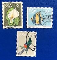 FIORI - PESCI - UCCELLI / FLOWERS - FISHES - BIRDS - ANNO/YEAR 1974 - África Del Sur (1961-...)